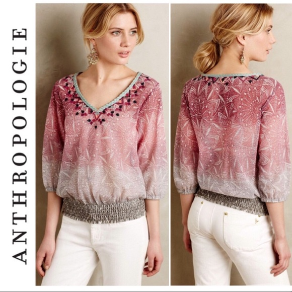 Anthropologie Tops - Anthropologie Akemi + Kin Arembepe Blouse